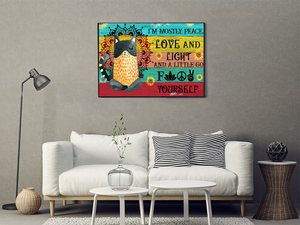 TT-TN Horizontal Printed Canvas - I'm Mostly Peace, Love And Light