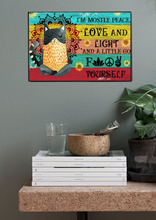 Load image into Gallery viewer, TT-TN Horizontal Printed Canvas - I'm Mostly Peace, Love And Light