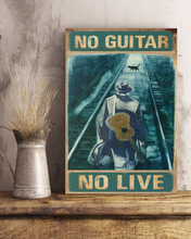 Load image into Gallery viewer, TR-TN Vertical Printed Canvas - No Guitar No Live