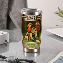 Load image into Gallery viewer, TR-TN Design Vacuum Insulated Tumbler - A Boy Really Loved Guitar And Dogs