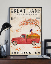 Load image into Gallery viewer, Great Dane Pumpkin Farm