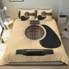 Load image into Gallery viewer, Tan Color Wood Guitar Bedding Set