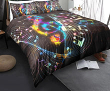 Load image into Gallery viewer, Magical Music Notes Bedding Set