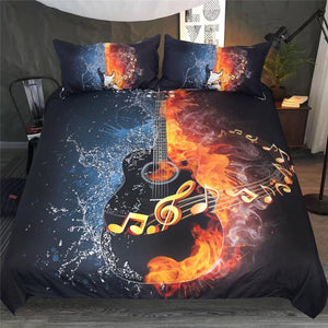 Fire & Water Guitar Bedding Set