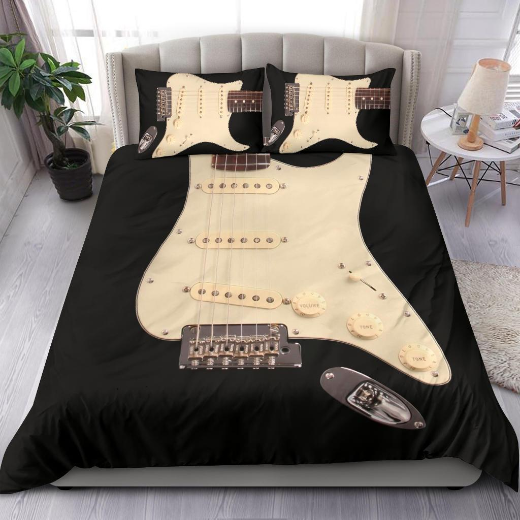 Black Electric Guitar Bedding Set