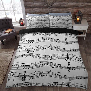 Music Note Printed Bedding Sets
