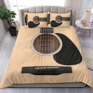 Tan Color Wood Guitar Bedding Set