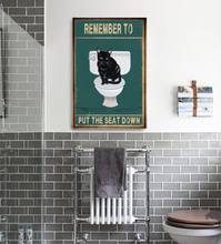 Load image into Gallery viewer, TT-TN Vertical Printed Canvas - Remember To Put The Seat Down