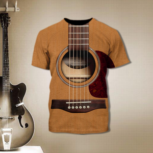 TR-DM Standard Printed Allover 3D Combo Shirt - Easily Distracted Dogs And Guitar