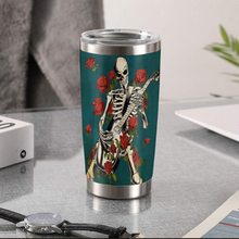 Load image into Gallery viewer, TR-DM Design Vacuum Insulated Tumbler - Skeleton Guitar Roses