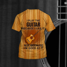 Load image into Gallery viewer, TR-DM Standard Printed Combo Allover 3D Tops - Guitar Brown Color