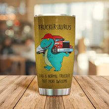 Load image into Gallery viewer, MC-DD Design Vacuum Insulated Tumbler - Truckersaurus