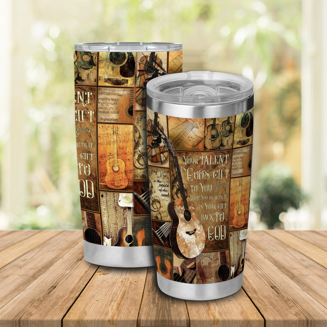 H-TD Design Vacuum Insulated Tumbler - Your Talent Is God's Gift