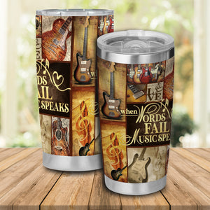 H-TD Design Vacuum Insulated Tumbler - Words Fall