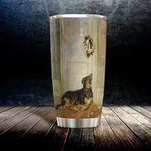 Load image into Gallery viewer, H-DD Design Vacuum Insulated Tumbler - Black Dog Waiting At The Door