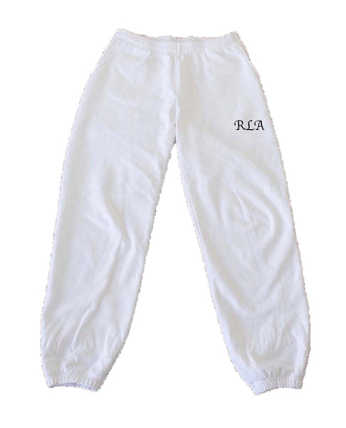 RLA White Sweatpants