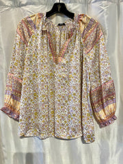 Lilac & Yellow Blouse