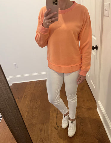 Coral Terry Sweatshirt