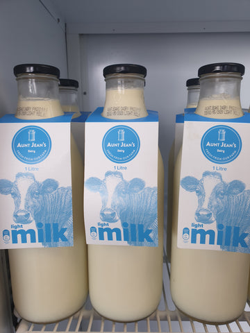 Aunt Jean's Light Milk 1L
