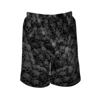Skulls Men's Quick Dry Swim Trunks Beach Shorts, with Elastic Waist and Mesh Lining - Heart Fit