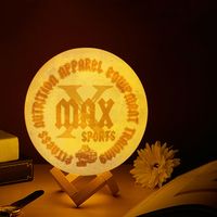 X Max Touch Dual-Color 3D Printing Lunar Lamp - Heart Fit