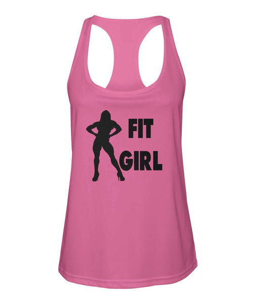 Woman's Fit Girl Razor Back T-Shirt #600134 - Heart Fit