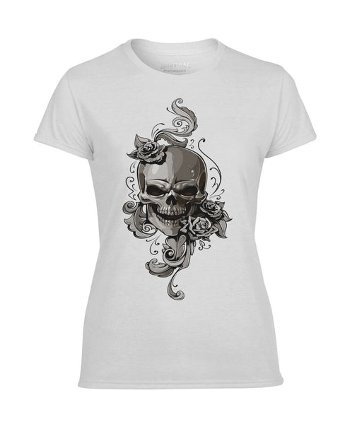 Skull Woman's Performance T-Shirt #3257662376 - Heart Fit