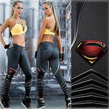 Superman 3D Print Women Leggings  Stretch #7488989 - Heart Fit