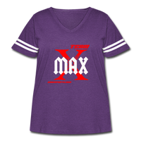 Team X Max Plus Size Women's Curvy Vintage Sport T-Shirt #2542552 - Heart Fit