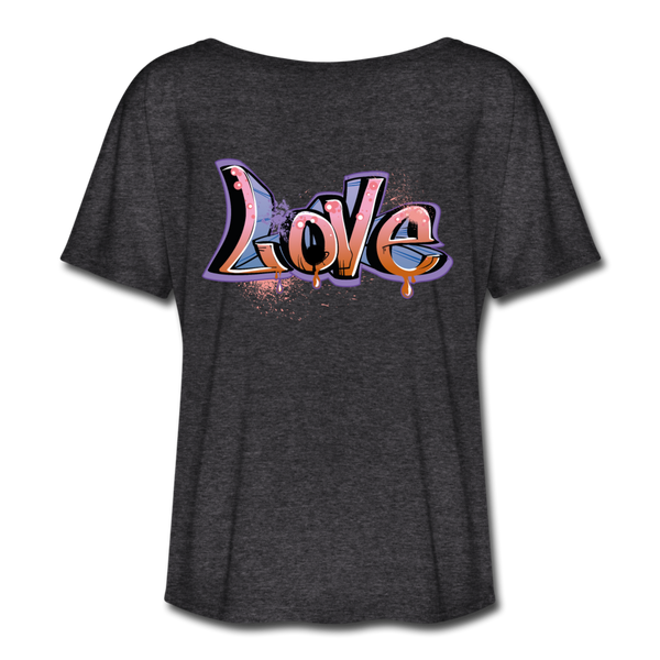 Love Women's Flowy T-Shirt #6526562 - Heart Fit