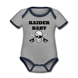 Raider Baby Organic Contrast Short Sleeve Baby Bodysuit #42452545 - Heart Fit