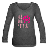 The Dog Mother Women's Long Sleeve  V-Neck Flowy Tee #1221987 - Heart Fit