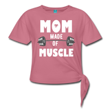 Made Of Muscle Women's Knotted T-Shirt #4365266 - Heart Fit