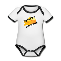 Cheese Head Organic Contrast Short Sleeve Baby Bodysuit #34434 - Heart Fit