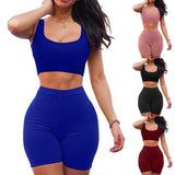 Women Sleeveless 2 Piece Yoga Set
