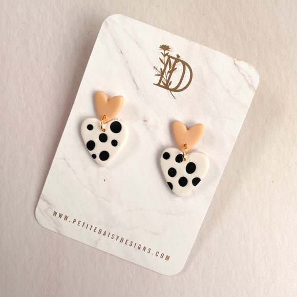 Polkadot Heart Earrings