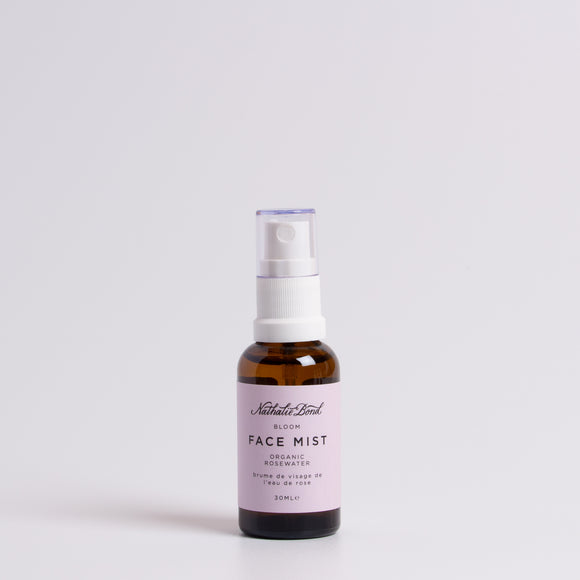 Bottle of rosewater face mist