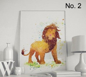 """Hakuna Matata"" Lion king wall art"