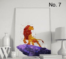 "Load image into Gallery viewer, ""Hakuna Matata"" Lion king wall art"