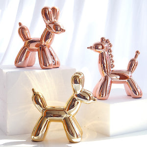 """The Dolly"" Modern abstract ceramic balloon dog statue in 4 variants"