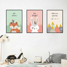 "Load image into Gallery viewer, ""Animal Surprise"" children's wall art"