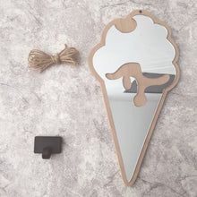 "Load image into Gallery viewer, ""Baby Mirror"" Wooden mirror"