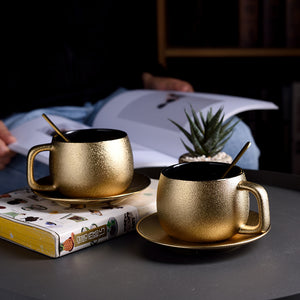 """Frosty"" High-Grade golden coffee cup set or lose"