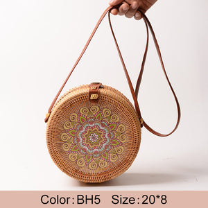 """Boho Love"" Straw handbag"