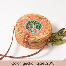 "Load image into Gallery viewer, ""Boho Love"" Straw handbag in 16 variants"