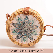 "Load image into Gallery viewer, ""Boho Love"" Straw handbag"