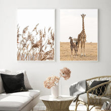 "Load image into Gallery viewer, ""Safari Poetry"" Wall art"