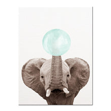"Load image into Gallery viewer, ""Blue Bubble"" Animal wall art"