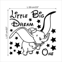 "Load image into Gallery viewer, ""Dreamy Dumbo"" wall sticker"