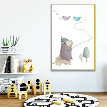 "Load image into Gallery viewer, ""Kiddy Wall Art"" cartoon wall art"